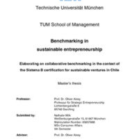 Benchmarking in sustainable entrepreneurship_Elaborating on collaborative benchmarking in the context of the Sistema B certification for sustainable ventures in Chile.pdf